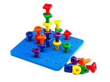 Geo Pegs & Board Set Giant Plastic Game Challenge Educational School Homeschool
