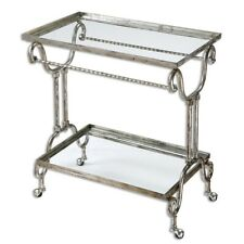 Uttermost Acasia Silver Tea Cart - 24463