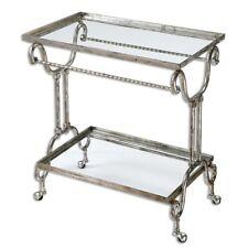 Uttermost Acasia Silver Tea Cart - 24463