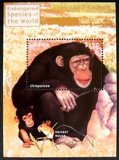 2000 MNH LIBERIA CHIMPANZEE STAMPS SOUVENIR SHEET WILD ANIMALS GRASSLAND ANIMALS