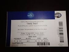TAKE THAT Used Ticket O2 June 2015