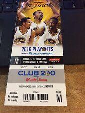 2016 GOLDEN STATE WARRIORS V CLEVELAND CAVALIERS NBA FINALS GAME #1 TICKET STUB