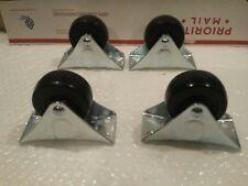 Lot of 4 WaxmanGroup 2-1/2 Rigid Heavy Duty Caster Wheels #0166857