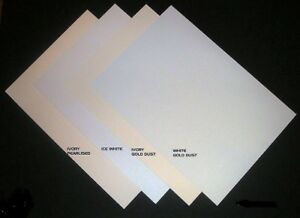 A4 Shimmer Pearl Card Ice White  White Gold Dust  Ivory Gold Dust 200- 300gsm