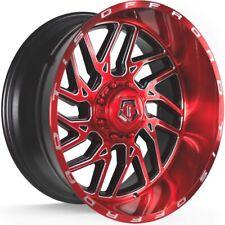 4 - 26x14 Red Milled Wheel TIS 544RM 8x6.5 -76
