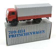 Vintage NZG (West Germany) 1/50 Red Mercedes-Benz Platform Lorry No.249 *NMIB*