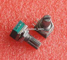10pcs RK097N B100K Audio Amplifier Sealed Potentiometer 15mm Shaft 3pins