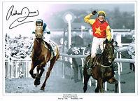 SIGNED GRAND NATIONAL RICHARD DUNWOODY WEST TIP PHOTO COA HORSE RACING MINNEHOMA