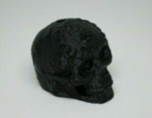 Aztec Death Whistle Skull - Screaming Whistle Loud 3D Printed Black