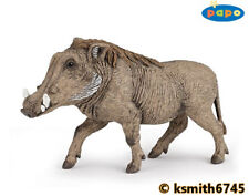 Papo WARTHOG solid plastic toy wild zoo African animal  * NEW *💥