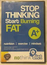 Stop Thinking Start Burning Fat nutrition exercise no think diet Dvd-Rom New!