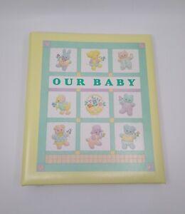 Hallmark Our Baby Unisex Keepsake Memory Album Scrapbook  baby Animals Vintage