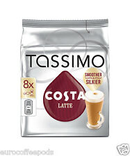 Tassimo Costa Latte Coffee 5 x Packs 40 Servings 80 T Disc
