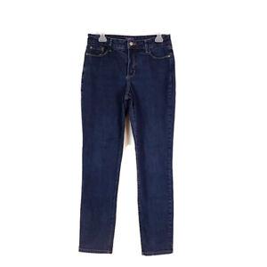 Not Your Daughters Jeans Womens sz 10 Dark Wash Denim Skinny Legging Jeans