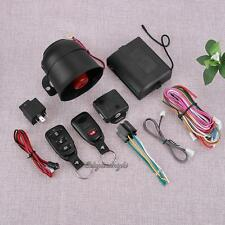 Car Vehicle Burglar Alarm Protection Keyless Security System w/ 2 Remote Control