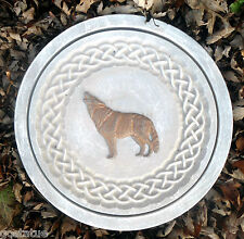 Concrete wolf celtic stepping stone plastic L@@K at 5500 more molds in my store