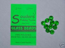 8mm Round, Faceted, Fire Polished Glass Beads - Green