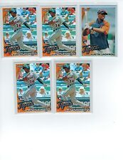 (5) 2010 TOPPS CHROME AUSTIN JACKSON #177 ROOKIE REFRACTOR LOT DETROIT TIGERS