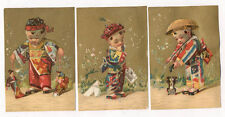 SET OF 3 STOCK CARDS DOLLS CUTE LITTLE CHINA BOY TC1851