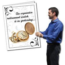Giant Retirement Card,  Watch - 2' x 3' w/envelope-
