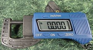 DIGITAL THICKNESS GAUGE  SAE and METRIC Light Weight and Durable new caliper mic