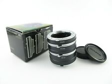 Für Minolta MC Auto Extension Tubes 14 21 28 mm Macro Zwischenringe + caps OVP