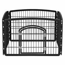 New listing R-Ci-604 4-Panel Indoor Pet Pen Black 24 x 36 x 36 Inch Pack Of 1Dog Play Door
