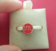 MISS CHAMILIA STERLING SILVER AND ENAMEL LOL BEAD CHARM