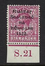 IRELAND:1922 Thom overprint 6d reddish-purple control S22 SG39 mint hinged