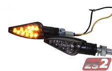 LED mini intermitentes Teo humo gris tintadas con número e para kawasaki z750 motocicleta
