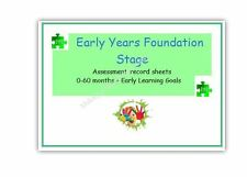 EYFS individual progress record/tracker childminder eyfs resource 0-60months