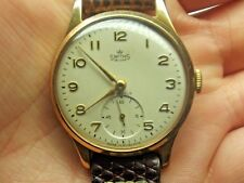 VINTAGE SMITHS DE LUXE MANUAL GENTS WRIST WATCH IN WORKING ORDER NICE CONDITION