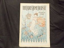 1896 MARCH LADIES' HOME JOURNAL MAGAZINE - GREAT ILLUSTRATIONS & ADS - ST 1554