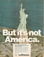 1971 Original Advertising' Lufthansa Germany Airlines BUT IT'S Not America