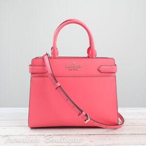 NWT Kate Spade New York Staci Medium Saffiano Leather Satchel in Garden Pink