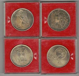 4X Dtsb Rda Medalla Deutsches I II III IV Turn - Y Festival Deportivo