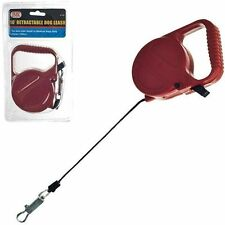 RETRACTABLE DOG PET LEASH  UP TO 12 LBS 10' FEET ROPE CORD LEAD HEAVY DUTY RED