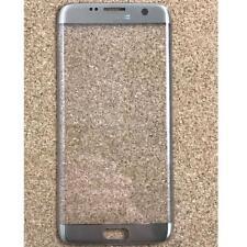 Samsung Galaxy S7 Edge Front Outer Glass Lens Screen Platinum Argent avec Logo