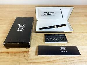 Montblanc Meisterstuck Black w Gold Trim Rollerball Pen