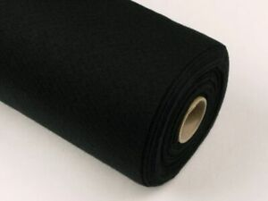 "Cambric Cotton Down Proof Fabric Black Cotton 90"" Width / Metre 233 Threadcount"