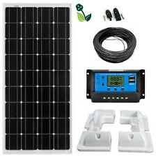 100W Solar Panel LCD Mono Kit 12V Corner Mounts Caravans Boats Motor homes Sheds