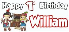 Pirate 1st Birthday Banner x 2 - Party Decorations - Personalised ANY NAME