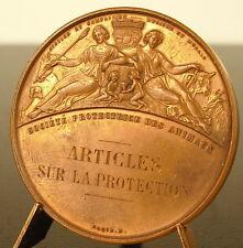 Médaille Société protectrice des animaux 1882 Animal protection Society medal