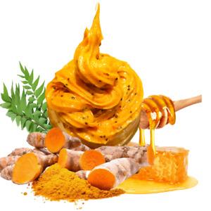 Honey and Turmeric Toning Face Scrub - Fresh and all Natural Skin Polish - 4 oz