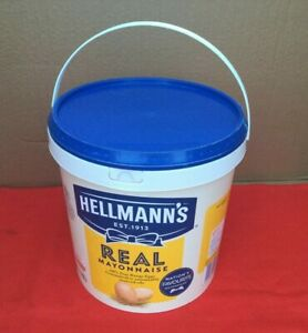 6 Pack Recycled Washed Plastic Buckets with Lids Food Grade BPA Free 10 Litre