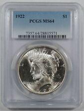 1922 PCGS MS64 Peace Dollar choice uncirculated