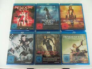 Blu Ray Sammlung * Resident Evil 1 2 3 4 5 6 im Paket