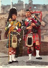 BR77775 scotish pipers types folklore costumes military edinburgh   scotland