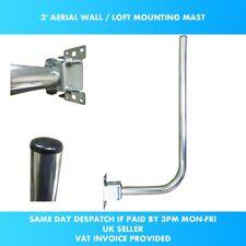 AERIAL MOUNTING KIT 2′ L SHAPED POLE & BRACKET WALL, FASCIA OR LOFT MAST TV DAB