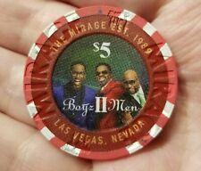 Boyz II Men $5 The Mirage Casino Poker Chip Las Vegas